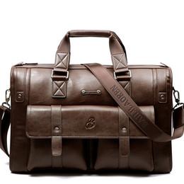 2019 borse split 2019 New Luxury Split pelle uomo Valigetta da uomo borsa a tracolla maschile Messenger Bag Brand Design Tote Computer Handbag # 30429 sconti borse split