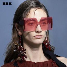 2020 gafas transparentes de gran tamaño al por mayor Venta al por mayor de moda de gran tamaño gran marco cuadrado gafas de sol de sombra 2018 Retro marca especial diseñador gafas de sol para mujer gafas gafas transparentes de gran tamaño al por mayor baratos