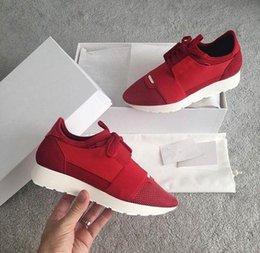 2019 zapatos de mujer totalidades 2017 Nuevo nombre del diseñador de la marca Mujer Hombre zapatos planos roja entera de cuero blanco malla mixta colores calza Trainer Runner tamaño unisex 38-46