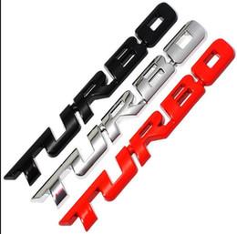 Etiqueta emblema turbo on-line-2019 3D Carro De Metal TURBO Styling Etiqueta Nova Etiqueta de Etiquetas Emblema Para Ford Focus 2 3 ST RS Fiesta Mondeo Tuga