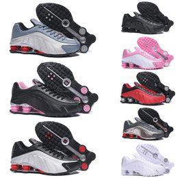 R4 кроссовки онлайн-Nike shox 301 shoes Дешевые Original 2017 Run Running Shoes Женщины и мужчины черный белый Runings Runing обуви Спортивный Открытый кроссовки один размер 36-45