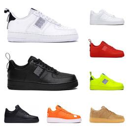 Zapatillas de deporte calientes para las mujeres online-nike air force 1 af1 zapatos casuales utility 2019 para mujeres color negro blanco rosa trigo con corte bajo alto Zapatos de skate deportivos de moda zapatillas de deporte