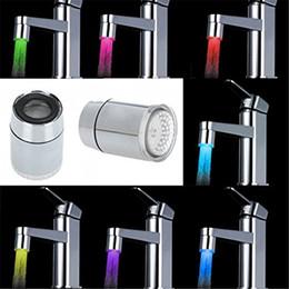 Mini grifos de agua online-1PCS 7 Colores que cambian Mini Accesorios de baño de cocina Luz LED Grifo de agua corriente Grifo