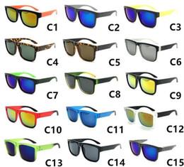 2019 gafas de sol de bloque Diseñador de marca Spied Ken Block Gafas de sol Helm 15 colores Moda Hombres Mujeres Marco cuadrado Conducción Ciclismo Gafas de sol Sombras Gafas gafas de sol de bloque baratos