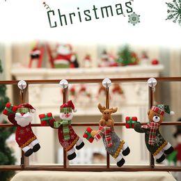 bonecas de pano de natal Desconto Merry Christmas Ornaments Gift 4 estilos Papai Noel Boneco de neve de natal Pendurar decorações Árvore de Pano brinquedos Boneca JY423