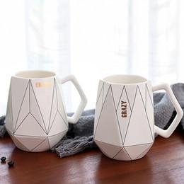 Керамическая чашка Mark Cup Milk White Черный Изысканные пары Современный подарок от Поставщики пиратские стаканы