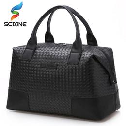 Hot Weave Men Travel Handbag Sports Training Gym Bag Waterproof Black Cool  Messenger Shoulder Bags Duffel Luggage Bag c4ae0d8f93f18