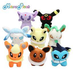 Bonecas do eevee on-line-Pokemons Brinquedos de pelúcia Bonecas de pelúcia Umbreon Pikachu Eevee Brinquedos Espeon Jolteon Vaporeon Flareon Glaceon Animais Bonecos de pelúcia OTH567