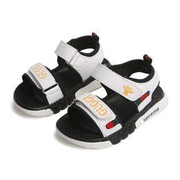 2020 pu chicos sandalia nuevos zapatos Zapatos para niños Niños Verano Nuevo 2019 Niños pequeños Sandalias Ortopédicas Cuero de pu Zapatos planos para niños Sandalias de moda casual Zapatillas de playa suaves pu chicos sandalia nuevos zapatos baratos