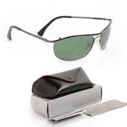 5d81925d08a 10PCS Brand New Designer sun glasses 8012 Brand Mens Sunglasses womens  glasses Green Glass Lens unisex sunglasses Classic Luxury glasses Box