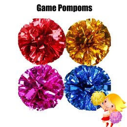 5 paires de pompons de jeu pas cher pratique pom poms pom-pom girl de pom-pom girl s'appliquent au match de sport et couleur Concert Concert ? partir de fabricateur