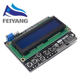 Display lcd a tastiera online-Schermo tastiera LCD Lcd1602 Display modulo 1602 LCD per Arduino Atmega328 Atmega2560 Raspberry Pi Uno schermo blu