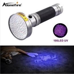Alonefire Süper 100 led UV Işık 395 -400nm Led Uv El feneri Torch Light'ın 18W UV lambası Fener nereden