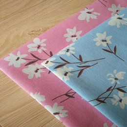 2019 fiori di panno fatte a mano Fiori in lino Tessuto in cotone Tela in lino Tessuto in lino Artigianato Panno per mano fai da te cucito a mano panno fiori di panno fatte a mano economici