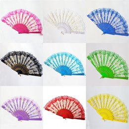 wholesale bone boxes Promo Codes - 23 Cm Lace Fan Plastic Bone Folding Hand Fans With Competitive Price Good Product Quality And Various Colors 2 99sz J1