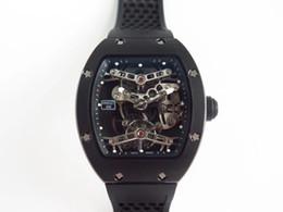 Caoutchouc titane en Ligne-EUR RM027 montre de luxe en caoutchouc bracelet de montre tournion mouvement mécanique boîtier en titane métal sans film de graphite plaqué d'hydrogène montres mens