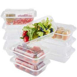 Trasparente Pasto Prep Contenitori da asporto riutilizzabile Bento Lunch Box 800ml da
