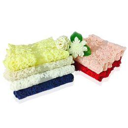 """4 """"Largura 15 Metros Trecho Padrão Floral Lace Ribbon Guarnição Do Laço de Corte para Floral Projetando Costura Quilting Patchwork DIY Artesanato de Fornecedores de colete roxo profundo"""