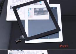 Argentina Para iPad 2 3 4 5 Air ipad mini 1 2 3 Conjunto de digitalizador de pantalla táctil con botón de inicio y reemplazo de adhesivo 3M Suministro