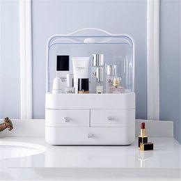 ups de escritorio Rebajas Caja de Almacenamiento de Escritorio de Escritorio de Cajón de Casa de Plástico transparente Organizador de Acrílico Diseñador de Aseo Bolsa de Maquillaje Maquillaje Organizador de Cosméticos