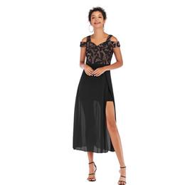 Hombro vestido de cóctel de estilo online-DILANE Vestido de verano para mujer Vestido de cóctel con estilo de gancho para el hombro, estilo europeo y americano.