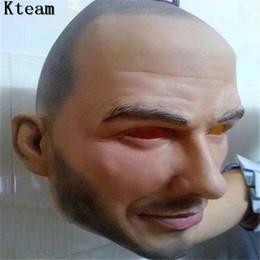 Máscara humana on-line-Hot Hot Frete grátis Festa de Halloween Cosplay Homem Famoso David Beckham Máscara Facial Do Partido Látex Real Humano Máscara Facial Legal máscara realista