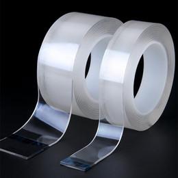 Fita dupla transparente on-line-Magia Nano Tape tração removível impermeável cola de metal dupla face fita de isolamento Repair forte adsorção casa fitas diária claras
