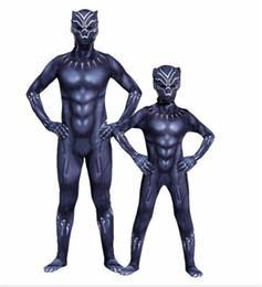 disfraces de carnaval blanco nieve Rebajas Negro Pantera Cosplay tema del traje de Halloween Vengadores Los leotardos para adultos y niños prendas de vestir