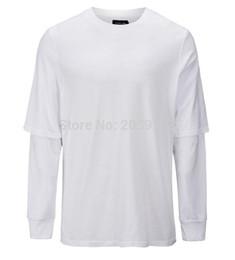 eccbb20d10 camiseta larga blanca para hombre de la manga Rebajas 2019 Nuevo Hombre  Streetwear Camiseta de algodón