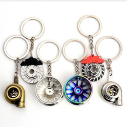 car nos Coupons - New car styling Black RIM wheel keychain Car wheel Nos Turbo keychain key ring metal with Brake discs Wheel Hub Keyring Auto Accessories