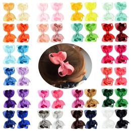 Kinder haarclip blume online-Mädchen Forsythie Blume Haarspangen 40 Design Solid Bow Haarnadel Entenschnabel Clip Kids Headwear Baby Clips Mädchen Haarspangen 07