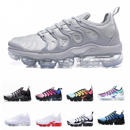 4eb958df10a2b6 2019 New Chaussures TN Plus Mens Running Shoes For Men Red Shark Tooth  Hyper Black Maxes White Air Grape Tns Sports Sneakers max shoes for sale