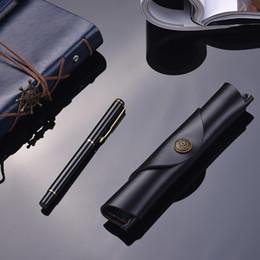 bolsa de caneta única Desconto 7 * 1.2''Antique Leather Pen Caso Bolsa Escola Fountain Handmade Sleeve Bag Pouch Protector for Single Pen Stylus Esferográfica