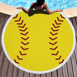 função de futebol Desconto Cobertor xale local de exportação de microfibra impressão bola de futebol basquete vôlei multi-função toalha de praia 150 * 150 CM grosso atacado