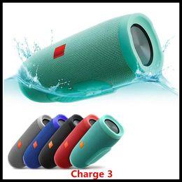 Bluetooth impermeável portátil alto-falante on-line-1PC Carga 3 sem fio Bluetooth Speaker Speakerphone Waterproof Portable Music Speakers Pequeno Sound Box Kaleidoscope múltipla Áudio Nova