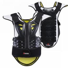 Armadura verde online-Protección de la motocicleta Motocicleta Chaleco antibalas Chaleco antirrugas Motocross Unisex Negro Verde Chaquetas de moto