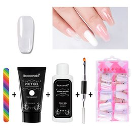 ibcccndc Poly Gel Set di smalto per unghie Poligel Kit Quick Builder Estensione di gel duro per camuffamento UV Led Pennello per lacca Ti cheap led nail polish kit da kit di smalto per chiodi fornitori
