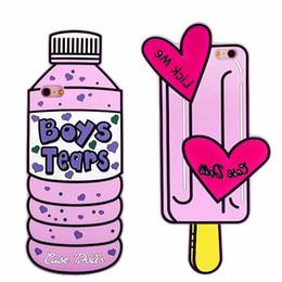 Iphone 3d gelato online-Per Iphone X XS 8 7 Caso 3D Kawaii Ice Cream Silicon Boy lacrime bottiglia copertura per Iphone7 Plus 6 S 6s Plus 6plus 5 5 s Se Phone Case