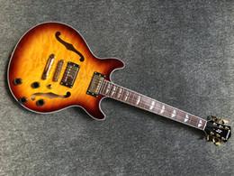 Música do oem guitars on-line-Hot instrumento de venda de música, clássica cor sunburst corpo oco jumbo jazz 339 guitarras elétricas, fábrica OEM artesanal guitarra