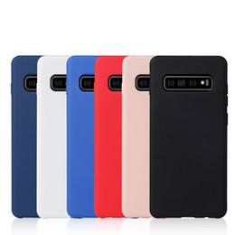 2019 housses en silicium pour cellule Avec la caisse de détail des cas de silicone pour Samsung Galaxy S10 S10 S9 S8 S8 Plus Note 9 8 Silicon Soft Case téléphone couverture arrière promotion housses en silicium pour cellule