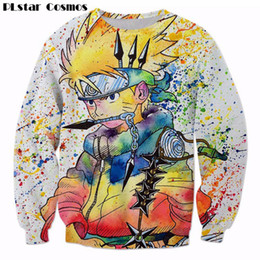 2020 top naruto PLstar Cosmos Rainbow Paint Naruto 3D Camisola Dos Homens Ninja Anime Pullovers Harajuku Hip Hop Outerwear Galaxy Camisolas tops desconto top naruto