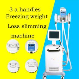 crio laser Rebajas Profesional 3 manijas de vacío Láser frío fresco Terapia Cryo grasa freezing la pérdida de peso que adelgaza la máquina