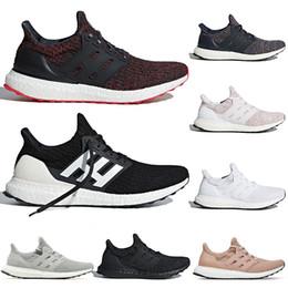 competitive price 00ee5 6e465 Mais novo triplo preto branco azul Ultra 4.0 tênis CNY Ash Peach Candy Cane  mulheres e homens Atlético Primeknit Runner Shoes 36-45