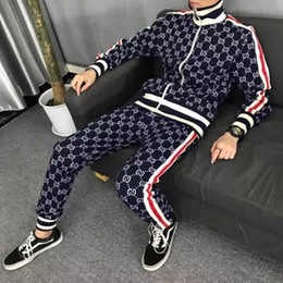chándal hombre negro amarillo Rebajas 3 unids gratis por Dhl marca diseñador chándal hombres moda carta GG imprimir sudadera de lujo corriendo chándales trajes para hombre sudaderas casuales