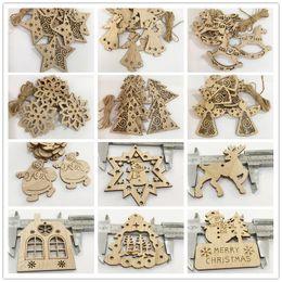2019 amico d'argento 16 colori creativi artigianato in legno Decorazione per festival di alberi di Natale Fai da te ornamenti con trucioli di legno per inviare la corda di canapa
