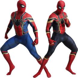 2019 traje verde metalizado Los Spider Man cosplay traje traje de los trajes de fiesta de Halloween del traje de Cosplay Catsuit