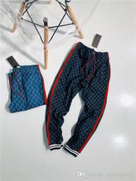 dd7dbcf83dd583 19ss G Letter Paris Stitching Jeans Pants elastic waist track pants  close-fitting Trousers sport Jogger Cowboy Sweatpants Outdoor Pants