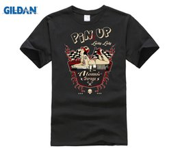 heiße sexy mädchent-shirts Rabatt PHIKING 2019 Marke T-shirt Männer Mode Coole T-Shirts Designs Hot Rod Tattoo Pin Up Mädchen Vintage Sexy V8 Benutzerdefinierte Druck T-shirts