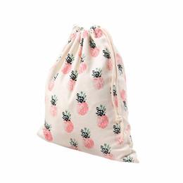 Ananas geschenke großhandel online-Wholesale-2017 versandkostenfrei fashional Ananas Druck Kordelzug Beam Port Tasche für Lagerung Reise Kosmetik oder Geschenk F2 1
