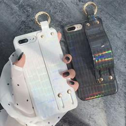 2019 iphone móvel usado Aplicável a laser iPhone 6/7/8 mais / 6s pulseira caso de telefone móvel Apple x capa protetora simples e fácil de usar capa iphone móvel usado barato